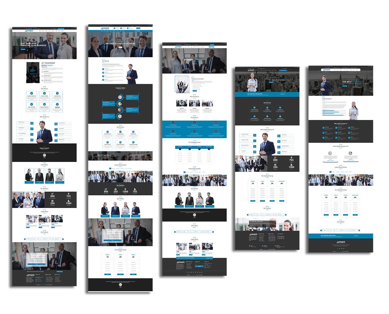 divi-finance-shop-theme-home-pages